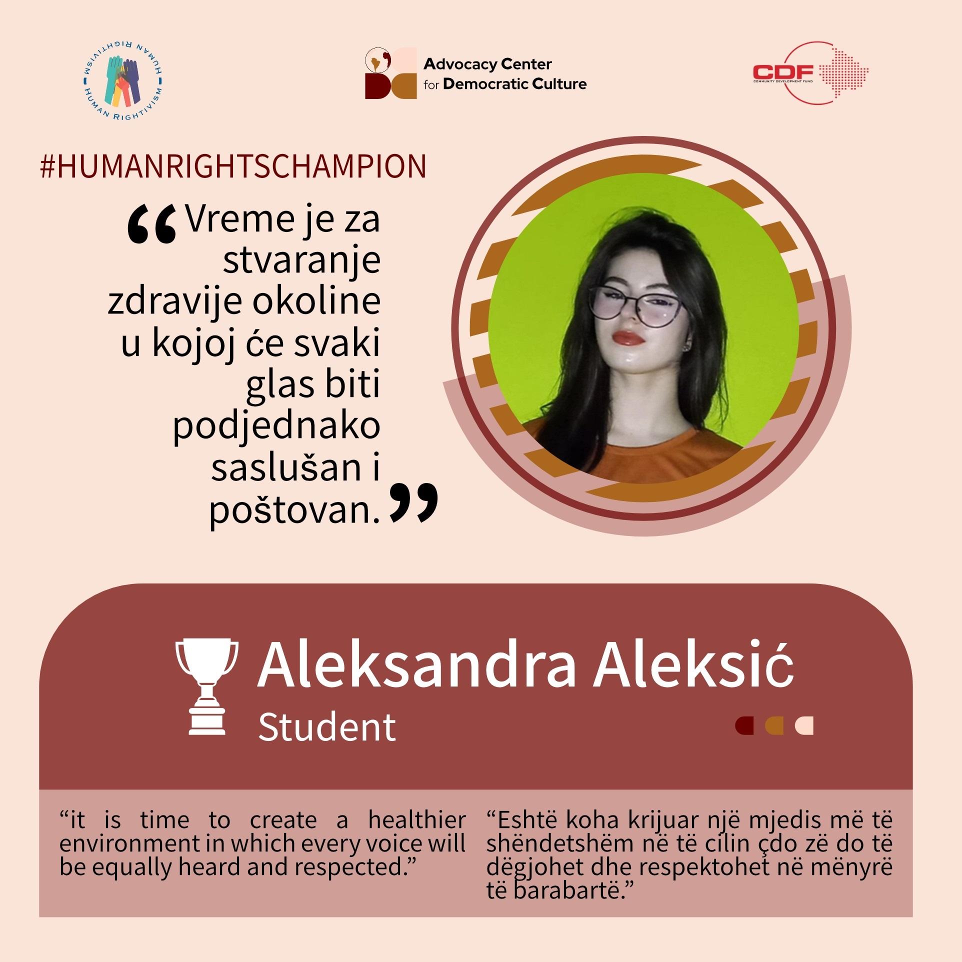 kampanja-promocije-ljudskih-prava-humanrightschampion-aleksandra-aleksic